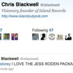 """""""I Love the Jess Roden Package"""" Chris Blackwell"""